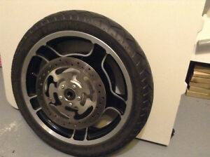 Front wheel and tire for Harley