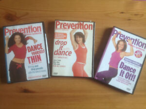 PREVENTION FITNESS SYSTEMS - 3 DANCE DVD 'S -DANCE & LOSE WEIGHT