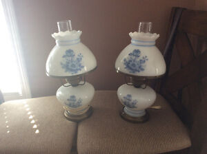 Set of glass lamps