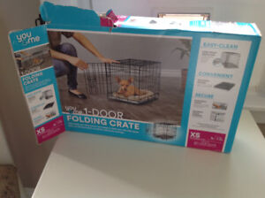 One  door opening dog crate --x small
