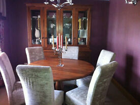 Dining Room Furniture - Bespoke handmade solid wood dining room table, Chairs & display unit