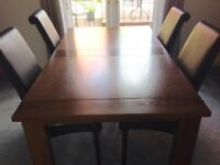 Marks and Spencer oak dining table and chairs