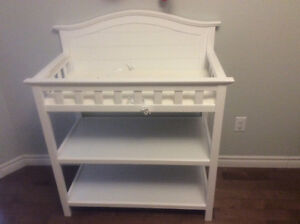 White baby change table 3 months old never used