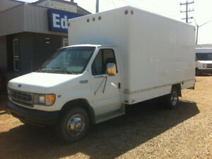 2001 FORD E-350 14FT CUBE VAN/PRESSURE HOT WATER SYSTEM