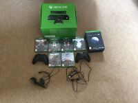 Xbox One 500gb and 7 Games and Kinect Sensor