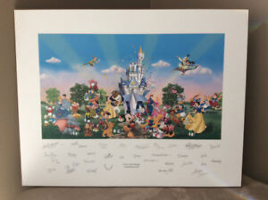"""Disney world limited release print - """"A Party in the Kingdom"""""""