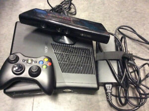 Xbox 360 Console with Connect and 1 Controller and 4 Games