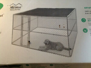 Midwest Extra Large Chain Link K9 Kennel