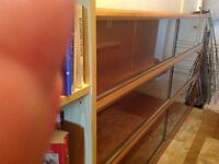 Excellent quality simplex sectional glass fronted book case for sale