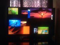"50"" LG tv screen + apple tv box + tv stand"