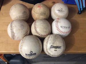 Used in great condition softballs.