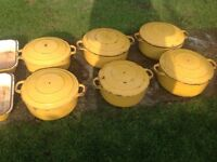 Invicta chasseur Cast Iron pans casserole dish France job lot
