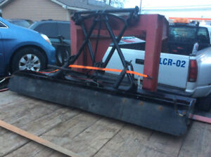 """Snow Plow blade 6'11"""" complete/ push guard /winch/controller"""