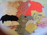 Lovely bundle girls summer clothes 5-6 years VGC Hello Kitty Debenhams F&F