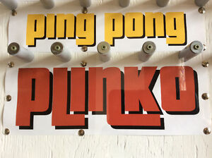 Exciting Ping Pong Plinko! Shags! Fundraisers! Weddings!