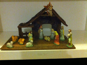 Christmas nativity scene creche