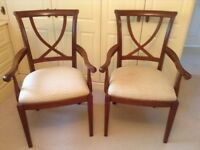 Dining/occasional chairs.
