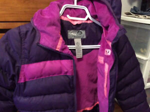 Size 4-5 Girls winter coat with hood