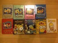 Simpsons boxsets DVDs joblot