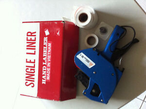SINGLE LINE HAND LABELLER with ink and rolls Windsor Region Ontario image 2