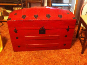 Antique Red Trunk
