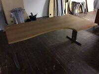 Beech L/Shape desk