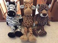 Jungle Animal Children's Baby Toddler Soft Toy Bundle