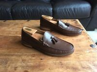 Men's Marks & Spencer Sartorial, Brown Leather Loafers (Size 9)