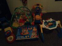 Range of baby toys