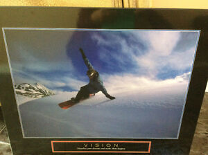 Snowboarding wall picture
