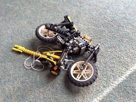 Lego technic bike and partial dragster