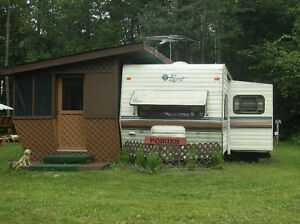 1991 Terry Resort 31 ft trailer with Add-a-room