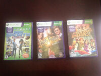 3 Kinect games for Xbox360