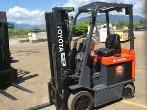 FORKLIFTS ELECTRIC 100 tochoose from ( Toyota,Raymond,Crown,Etc.