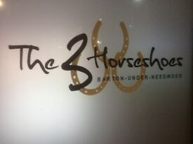 Sous Chef & Weekend Bar Staff Required