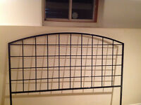 Modern and stylish metal bed frame with headboard and footboard