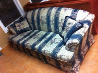 clean striped couch
