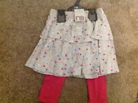 Brand new with tags skirt and leggings set 9-12 months