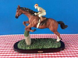 The Juliana Collection Race Horse and Jump Jockey Figurine