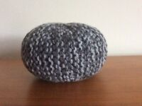 HAND KNITTED MINI POUFFE FOR DOLL