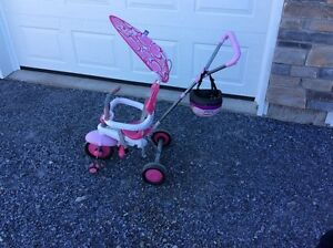 Toddlers Girls Pink Tricycle and Helmet