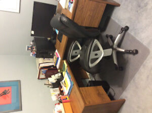 L Shaped Office Desk and Chair