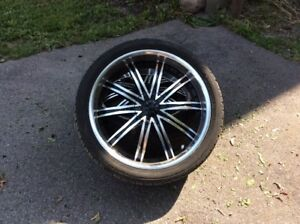 """4 - 22""""  UNIVERSALE RIMS AND TIRES"""
