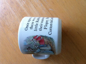 Peter Rabbit Cup and little girl wall art