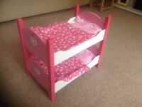 Cup Cake bunk beds/ two twin beds