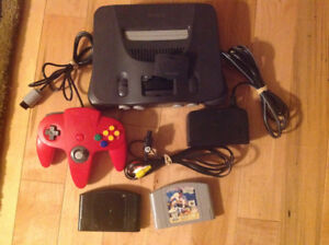 Nintendo N64 Game System with Hookups, Controller & 2 Games