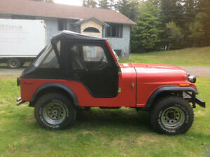 1976 jeep cj5,V8,360,3 spd,total restoration,fibreglass tub,