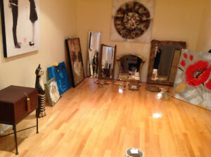 Many paintings/mirrors 27 items total value $3600 asking $495
