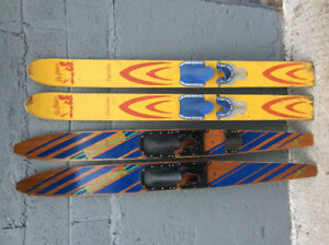 Vintage water skis