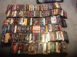 DVD and VHS movie collection